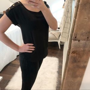 Zenana Outfitters size small sexy black blouse